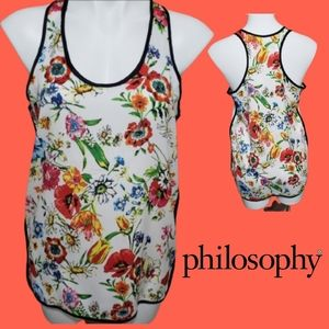 Philosophy colorful tank top size med